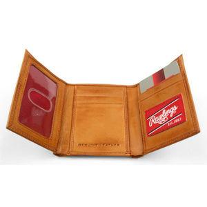 Rawlings Bags - Rawilings Vintage Leather Tri-Fold Wallet Tan